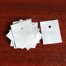 100PCS Thermal Insulator / Silicon Rubber Pad TO-3P size 25mm x 20mm x 0.3mm
