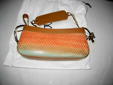 $665 CLAUDIA CIUTI Snake Leather Handbag Evening Bag