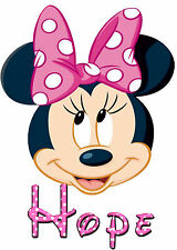 Minnie Mouse Personalised Iron on Transfer Create a T Shirt Pajamas for Xmas