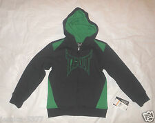 Boys Tapout Black and Green Full Zipper Hoodie Size 4 NWT