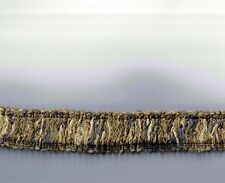 "8 yards Grey Multi-Color Fringe Trim 1-1/4"" Rayon Sewing Craft Fabric"