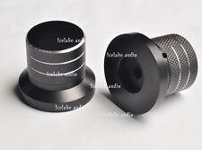 2pcs black 40x33mm Solid Aluminum Potentiometer Knob 6mm Alps Volume Control