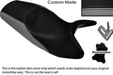 GREY & BLACK CUSTOM FITS BMW K1200RS K 1200 RS REAL DUAL LEATHER SEAT COVER