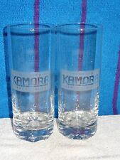 Pair Weighted Bottoms Imported Kamora Coffee Liqueur Beverage Glasses