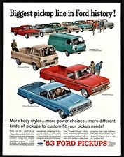 1963 FORD Falcon Ranchero Styleside Econoline Pickup Truck and Econoline Van AD