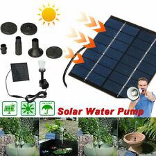 Solar Power Fountain Pool Water Pump Panel Garden Plants Watering Kit 180L/h Us