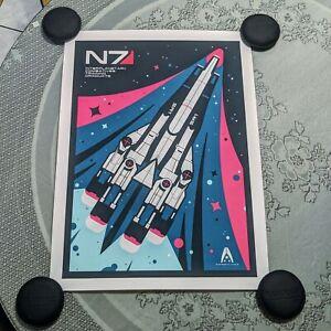 Mass Effect Limited Edition SR1 Normandy Retro Art Poster Print 18x24 Mondo