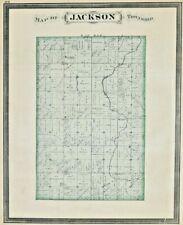 1877 Atlas Map Indiana Jackson Township Antique Kingman Brothers Illustration
