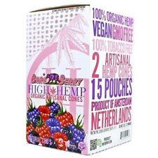High Hemp Organic Wrap Bare Berry Full Box 15 Pouches, 30 Cones Wraps per Box