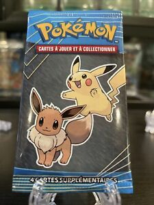 Pokemon McDonalds Booster Pack 2019 — Rare — French —  Pikachu and Eevee -