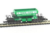 MINITRIX Spur N 3569 Schotterwagen Selbstentladewagen RHEIN-KIES, DB, Ep.IV, OVP