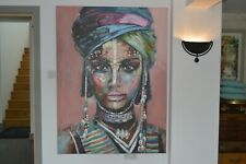 Aboriginal African Lady Women Large Art Pink Wall Acrylic Painting 160 x 120
