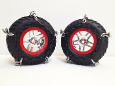 RC Tire Chain Fits Traxxas Slash 1/10 Scale Tires 2 STAINLESS Snow Chains