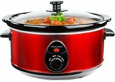 Andrew James Slow Cooker - 3.5 Litre, Red