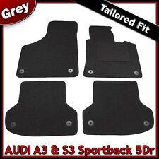 Audi A3 Mk2 Sportback 5-Door 2003-2013 Tailored Carpet Car Floor Mats GREY
