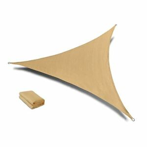 Qozy SUPER Extra Heavy Duty Shade Sail Sun Canopy 320gsm Outdoor Triangle Sand
