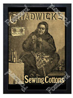 Historic Chadwick's Sewing Cottons, Eggley Mills 1880s Advertising Postcard