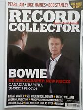 Record Collector Magazine - August 2016  No.456 - Bowie, Pearl Jam, Edgar Winter