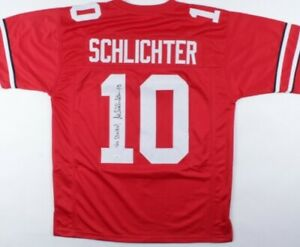 "Art Schlichter Signed Ohio State Buckeyes Jersey Inscribed ""Go Bucks!"" (JSA COA)"