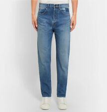 f53e9cd1e23 SAINT LAURENT SLIM-FIT 17.5CM HEM EMBROIDERED DENIM JEANS SIZE 30