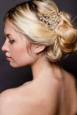 Bridal Crystal Pearl  Wedding Proms Hair Vine Pin Headband Headpiece