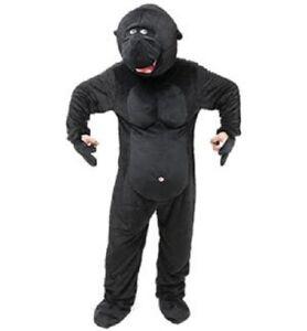 "Mens Ladies Big Head Monkey Gorilla Fancy Dress Costume Size Upto 44"" Inch"