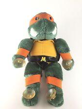 RARE Vintage 1988 Michelangelo Ninja Turtle Suction Stuffed Animal.Michael TMNT