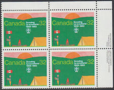Canada - #993 Canadian Scouting Plate Block - MNH