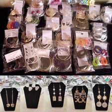 60 Pairs Wholesale Lot Jewelry Drop Stud Hoop Dangle Earrings Mixed Designs