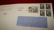 """5 timbres oblitérés sur lettre , dont """"Verneuil sur Avre"""""""