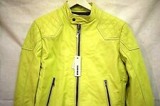MENS DIESEL LEATHER JACKET LIME AMAZING DETAIL SIZE LARGE RRP £450 ON SALE NOW