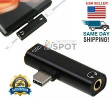 2 in 1 USB C to 3.5mm and Charger Headphone Audio Jack Cable Adapter for Samsung