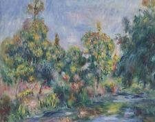 Renoir Auguste Pierre The Cagnes Landscape With River canvas 16 x 20 #7103