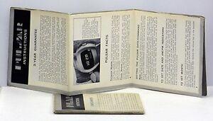 Original Vintage Pulsar Wrist Watch Instructions / Papers