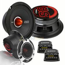 "Memphis Audio 6.5"" Component Speaker Set Tweeters Crossover SRXP62C 250 Watt Car"