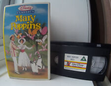 Mary Poppins - Walt Disney Classics - Early Release cat no 023 Disney VHS Video