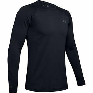 Under Armour 1343243 Men's UA ColdGear Base 3.0 Top Baselayer Crew Shirt, Black