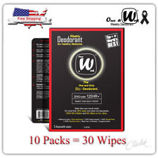 Once A Week Weekly Deodorant 10 Pack (30Wipes) Solve Biological Body Odor 120HR+