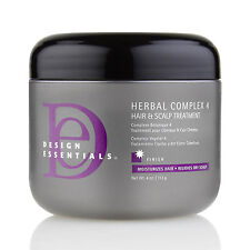 [DESIGN ESSENTIALS] HERBAL COMPLEX 4 HAIR & SCALP TREATMENT 4OZ
