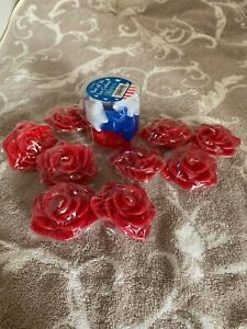 Floating Candles / Set Of 9 Scented  Ice Cubes Patriotic Stars Set Of 16