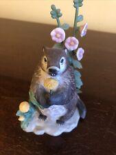 Lenox Woodland Animal Collection Groundhog Spring Shadow Figurine 1995