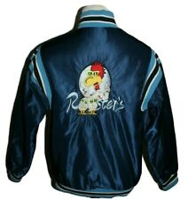 Vintage 80's/90's Rooster's Wings Restaurant Embroidered Stitched Satin Jacket