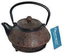 More details for buckingham aztec japanese  cast iron teapot kettle tea pot 800 ml w / trivet set