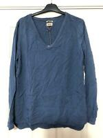 Hilfiger Denim Blue Shirt Size Large NEW Women Long Sleeve Great Condition(F188)