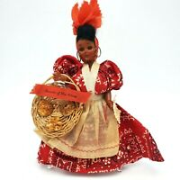Vintage 1940 Praline Mammy Doll Souvenir of New Orleans 10 in tall  movable eyes