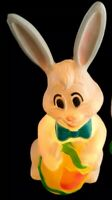 """Vintage Sunhill 27"""" Lighted Easter Bunny Blow Mold"""