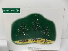 Department 56 Halloween Spooky Black Bare Branch Trees Set of 3