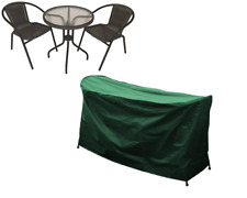 More details for  rectangular garden furniture table and chairs bistro set cover - green