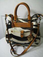 DOONEY & BOURKE Zebra Print Florentine Vacchetta  Leather Hobo Crossbody Handbag