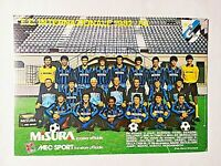 FOTO CARTOLINA FC INTERNAZIONALE INTER 1982-1983 MISURA MEC SPORT 82-83